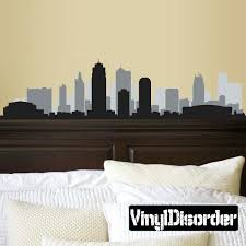 chicago skyline wall decals skyline vinyl wall decal or car sticker chicago skyline silhouette wall decal