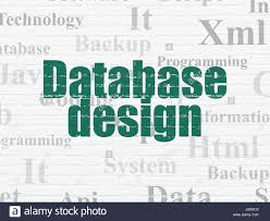 Database Design And Programming Programming Concept Database Design On Wall Background