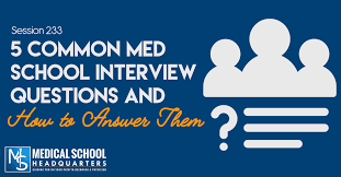 Best Questions To Ask After An Interview 5 Common Med School Interview Questions And How To Answer Them