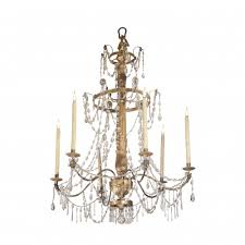 a gilded wood and crystal chandelier genoa italy late 18th century