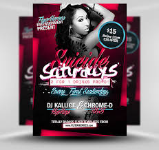 free flayers suicide saturdays flyer template psd photoshop flyer template