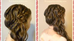 You Tube Hair Style romantic side swept braided rose hairstyle youtube 2517 by wearticles.com