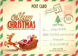 Postcard Template For Word Xmas Postcard Template