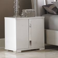 contemporary style furniture. whatu0027s not to love about the contemporary style of this nightstand metallic pewter details furniture