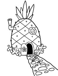 coloring pages from spongebob squarepants animated cartoons spongebob pineapple drawing