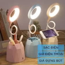 sỉ, lẻ Đèn bàn học sạc tích điện ❤Bảo hành 3 tháng❤Giá để điện thoại❤M36011  đèn led đọc sách chống cận cho trẻ học sinh