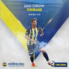 """Fenerbahçe SK on Twitter: """"Fenerbahçe, sezonun ilk maçında Adana Demirspor  karşısında galibiyet için sahada! ⚽ Karşılaşma TEK MAÇ ve CANLI İDDAA  seçenekleriyle @Nesinecom'da! 📲 Hemen Oyna >> https://t.co/7gYMDAzZEF…  https://t.co/Vsh682M5Ba"""""""