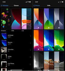 wallpaper for dark/light mode on iOS