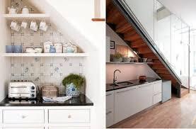 Image of: Stairway Storage Ideas brown