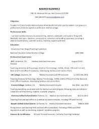 Gym Assistant Sample Resume Amazing Medical Assistant Instructor Resume Fitness Manager Sample Resume