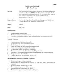 Famous Supermarket Cashier Duties For Resume Contemporary Example