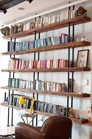 reclaimed wood, stolmen from Ikea and you got yourself a brilliant bookshelf