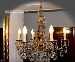 Alter Antiker Kronleuchterlüsterkristallprismen Jugendstil