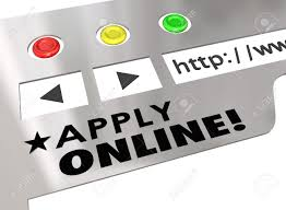 apply online words on a website or internet browser window to apply online words on a website or internet browser window to show how to fill out