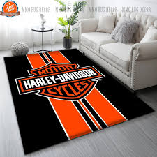 hot harley davidson area rug living