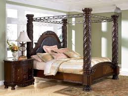North Shore California King Canopy Bed in Dark Wood | ReDoing Our ...