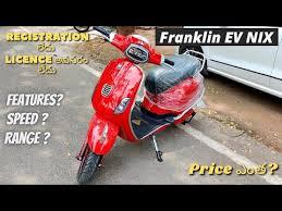 Franklin EV NIX 2021   No registration - No licence   First in ...