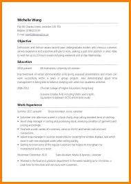 Awesome Collection Of Sample Of Resume For Part Time Job By Student
