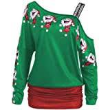 Minisoya Women's <b>Christmas Santa Print</b> T- Buy Online in ...