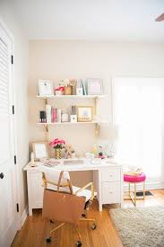 how lauren ashley turned a corner of her bedroom into her own office space bedroom home office space