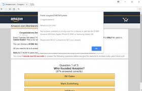 Amazon A Scam Remove Pop-up Ads Gift 1000 survey