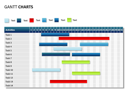 Gantt Chart By Day Powerpoint Slide Gantt Chart 31 Days 14 Tasks P31 12