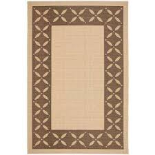 mallorca border cream chocolate 5 ft x 8 ft area rug