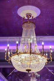 big crystal chandelier earrings the in an ancient palace stock photo picture