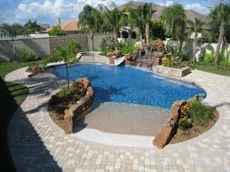 beach entry swimming pool designs. Swimming Pool, Charming Modern Pool Design Curved Shape In Ground Rustic Stone. Beach Entry Designs