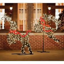 5 75 x27 giant mercial grade led lighted leaping reindeer topiary christmas outdoor decoration