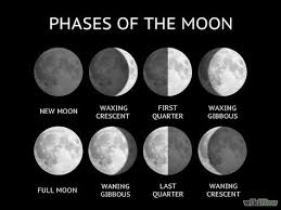 Moon Chart Mr Villas 7th Gd Science Class Moon Phases Moon Phase