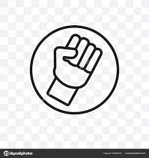 Fist Transparent Background Fist Vector Linear Icon Isolated Transparent Background Fist
