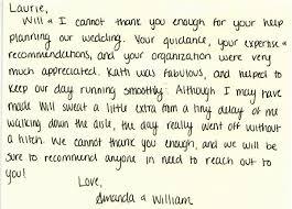 Personal Thank You Letters | Everyday Details - Nh Event Planner ...