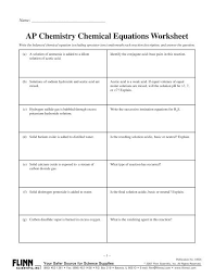 10826 ap chemistry chemical equations