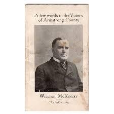 Campaign Brochure 1899 William Mckinley Pensylvania Campaign Booklet