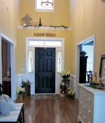 furniture entryway. Entryway Furniture For Small Space Decoration Room With Yellow Wall Ideas Black Door And Chest R