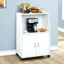 microwave cart with drawer