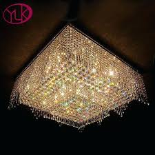 flush mount chandelier lighting modern chandelier lighting flush mount crystal light square living room square luxury