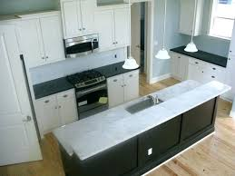 White cabinets with marble countertops Shaker Bianco Carrara Marble Countertop Marble Tchen White Home Design And Decor Adorable Waterfall Island White Cabinets Maison De Pax Bianco Carrara Marble Countertop Marble Tchen White Home Design And