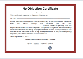 letter of non objection non objection certificate 542252564304 format of noc letter photo