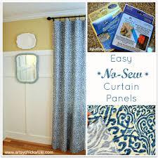 No Sew Curtains Spring Break Diy Window Treatments Ahrncom