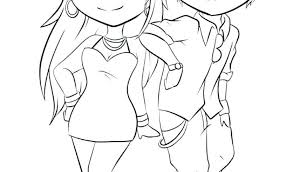 Anime Chibi Girl Coloring Pages Colouring For Adults Online And Cut