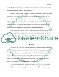 Causal Analysis Causal Analysis Of Relationship Failure Essay Example