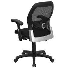 Flash Furniture Mid Back Black Super Mesh Executive Swivel Chair