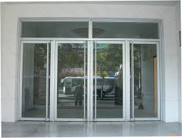 breathtaking sliding front door modern style business glass front door with commercial exterior