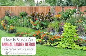 annual flower garden design for