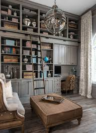 office layouts ideas book. Gray Home Office And Library With Shabby Chic Decor, Rustic Pray Heritage Paint Shelving Distressed Wood Floors. Layouts Ideas Book I