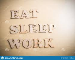 Eat Sleep Work Motivational Words Quotes Concept Stock Photo