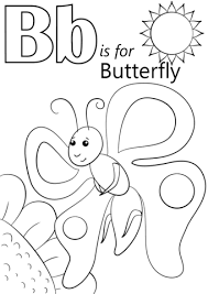 Letter B Is For Butterfly Coloring Page Free Printable Coloring Pages