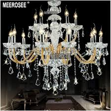 15 lights large crystal chandelier lamp elegant hanging light with beads cristal ers for foyer meeting room bedroom md8533 chandeliers glass